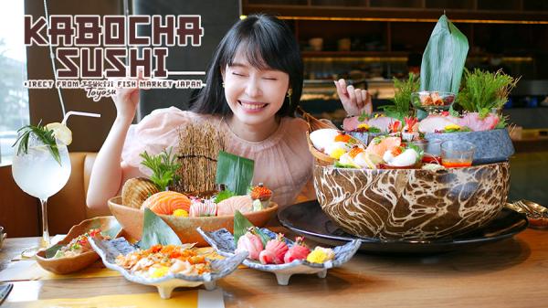 KABOCHA SUSHI อาหารญี่ปุ่นที่สด อร่อย มาตรฐานคงที่ วัตถุดิบเกรดพรีเมี่ยมนำเข้าจากญี่ปุ่น