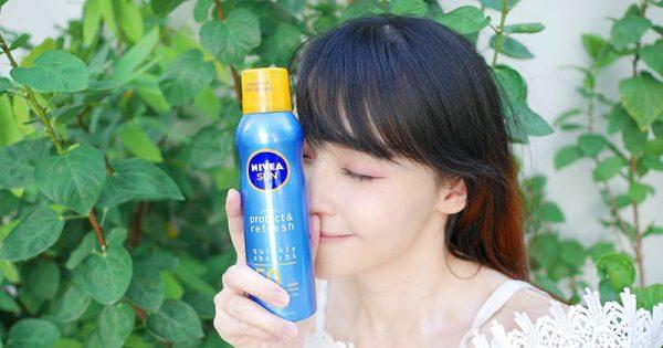 กันแดดแบบสเปรย์ NIVEA SUN Protect & Refresh Cooling Mist SPF50